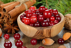 Lingonberries and cranberries