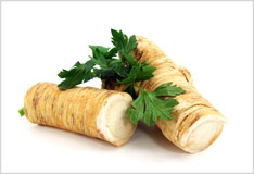 Horseradish: pungent, peppery and delicious