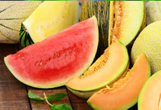 Melons are refreshing and healthy