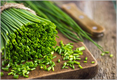Chives add a fresh, green look and taste