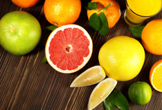 Citrus fruits against winter chills