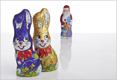 Chocolate Santas reborn as Easter bunnies?