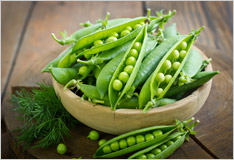 Peas are a fragrant summer vegetable