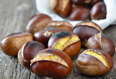 Sweet chestnuts are in season again
