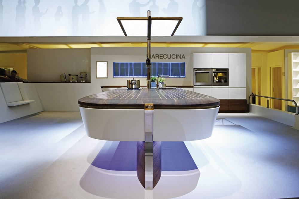Clever Storage Marecucina Alno Presents Its Maritime Concept