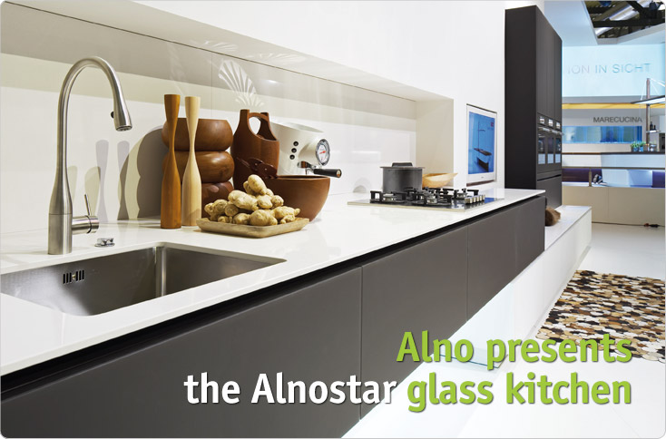 Clever Storage Alno Presents The Alnostar Glass Kitchen