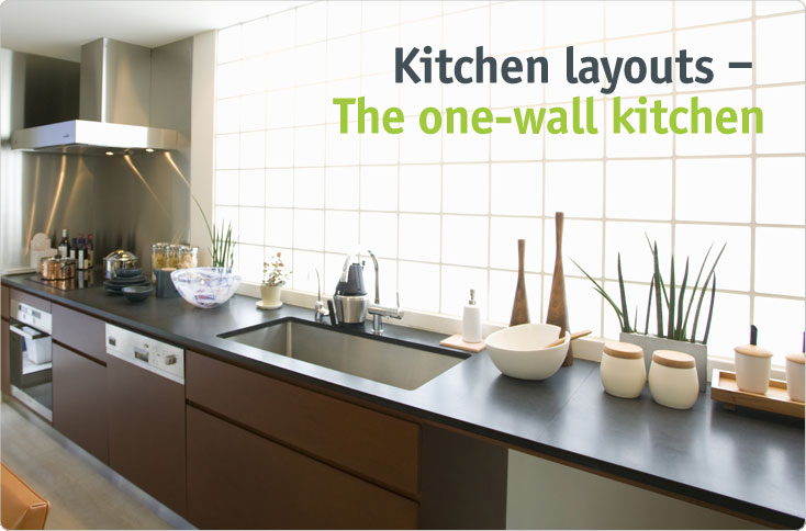 Clever storage the one wall kitchen for Single wall kitchen designs