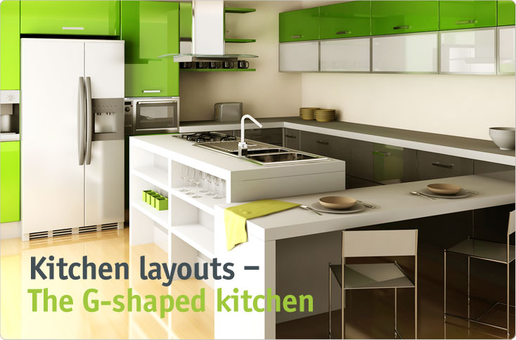 Kitchen Design G Shape clever-storage | kitchen layouts