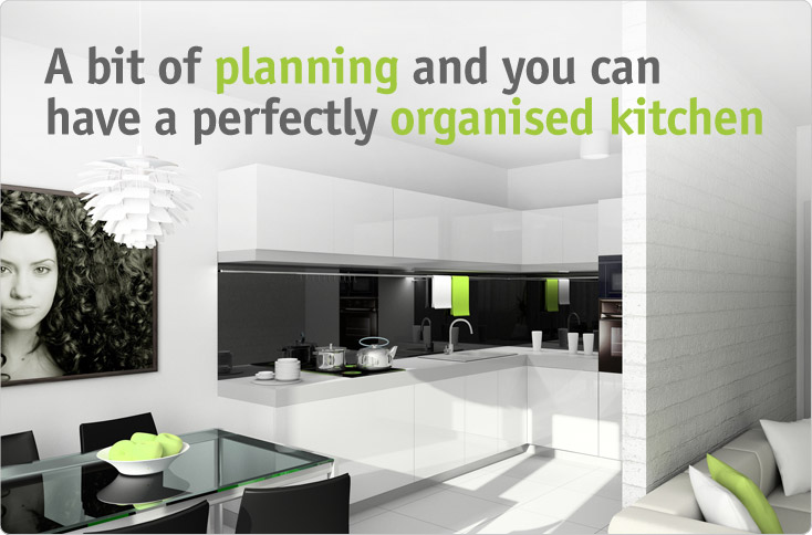 clever storage tips on planning a kitchen. Black Bedroom Furniture Sets. Home Design Ideas