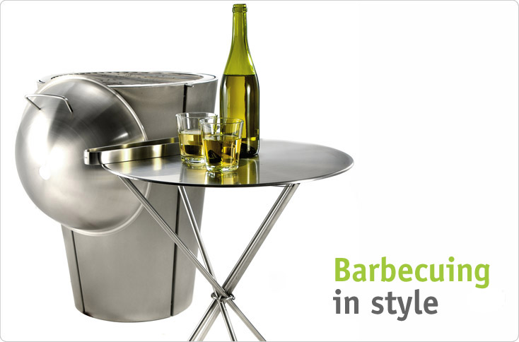 clever storage the eva solo gas barbecue is the star. Black Bedroom Furniture Sets. Home Design Ideas