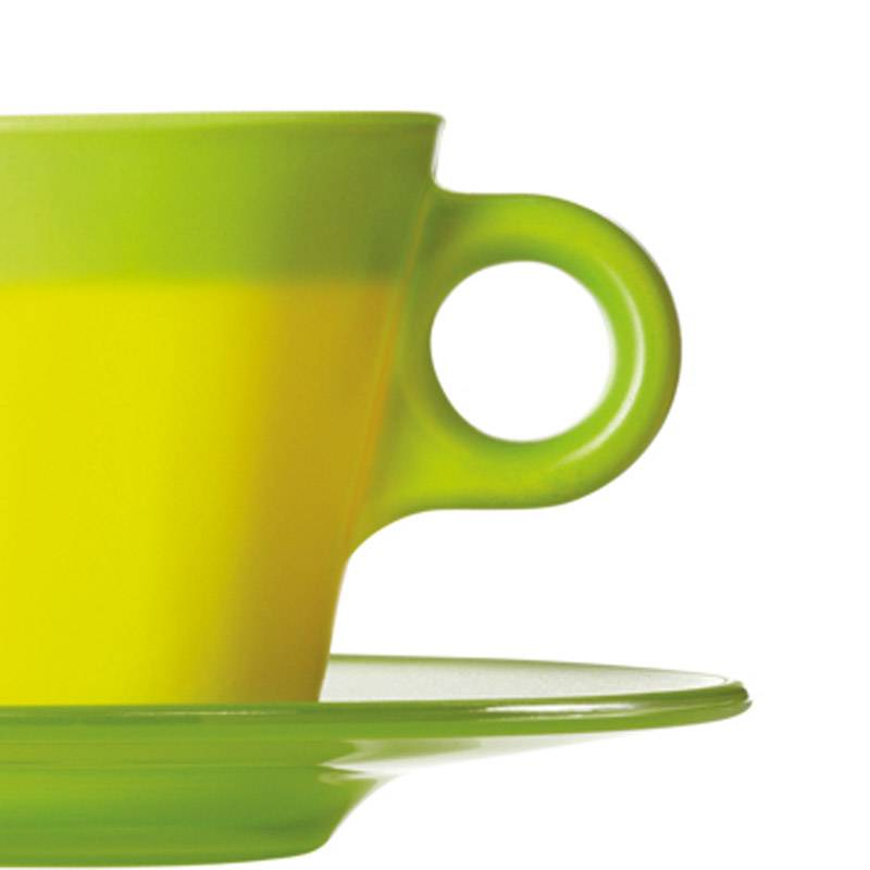 Clever storage Colourful Cups Add Charm To Your Coffee