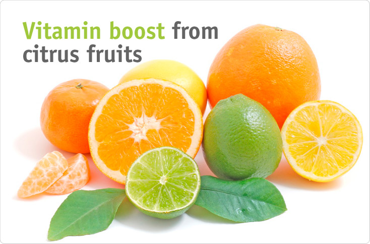 Clever storage vitamin boost from citrus fruits